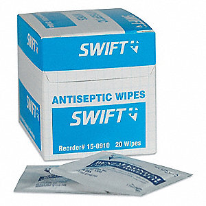 "Antiseptic Towelettes, Application: Antiseptics and Wound Care, Size: 8"" x 5"", Pouch Package Type"