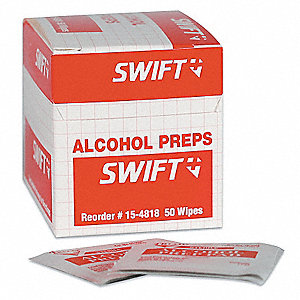 "Alcohol Towelettes, 1"" x 2-1/2"" Pouch"