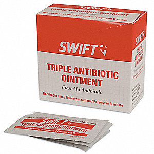 Triple Antibiotic, Application: Antibiotics, Size: 0.5g, Foil Pack Package Type
