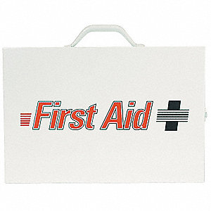 Empty First Aid Cabinet,Metal,White