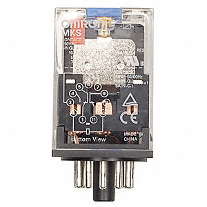 Plug In Relay, 8 Pins, Octal Base Type, 10A @ 250VAC/30VDC Contact Rating, 120VAC Coil Volts