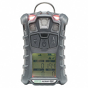Multi-Gas Detector,4 Gas,-4 to 122F,LCD