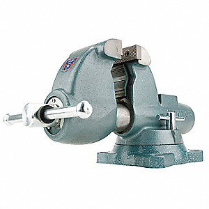 "4-1/2"" Ductile Iron Combination Vise, 4-3/4"" Throat Depth"