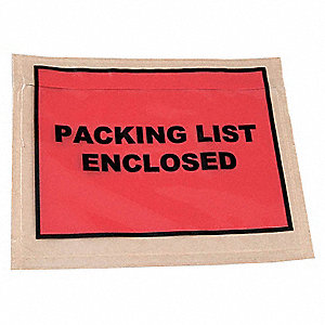 Packing List Envelope,5-1/2 In,PK1000
