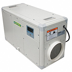 "Crawlspace Dehumidifier, 115V, 5.3 Amps, Height 14"", Width 10"", Depth 24"""