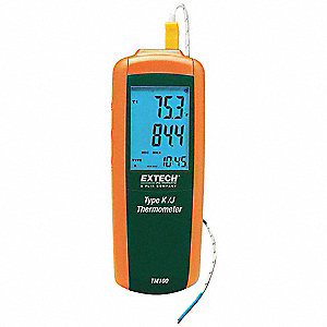 Thermocouple Thermometer,1 In,Type J, K