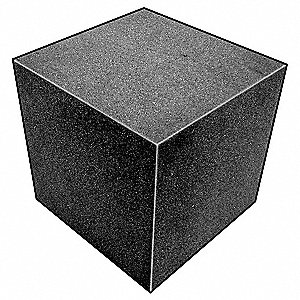 Foam Cube,Polyether,Charcoal,4 In Sq