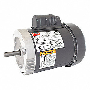 1/2 HP General Purpose Motor,Capacitor-Start,1725 Nameplate RPM,Voltage 115/208-230,Frame 56C