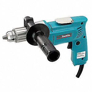 "1/2"" Electric Drill, 6.5 Amps, Pistol Grip Handle Style, 0 to 550 No Load RPM, Voltage 120VAC"