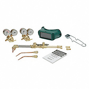 Cutting And Welding Kit, CA1260, 221-05FP Fuel, 201-05FP Oxygen, Oxy Acetylene Fuel, 103-01FP Torch