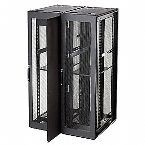 "Black Painted Carbon Steel Partition Wall, 1/16"" Width"