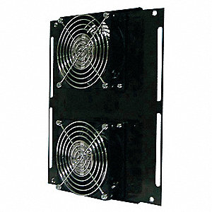 "Square Axial Fan, 10-1/4"" Width, 11-27/64"" Height, 115VAC Voltage"