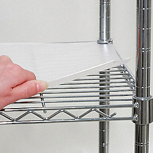 "Plastic Shelf Liner, 24"" Width, Clear, Package Quantity 4"