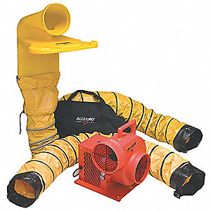 Centrifugal Confined Space Blower Kit, 1/3 HP, 115VAC Voltage, 1725 rpm Blower/Fan Speed