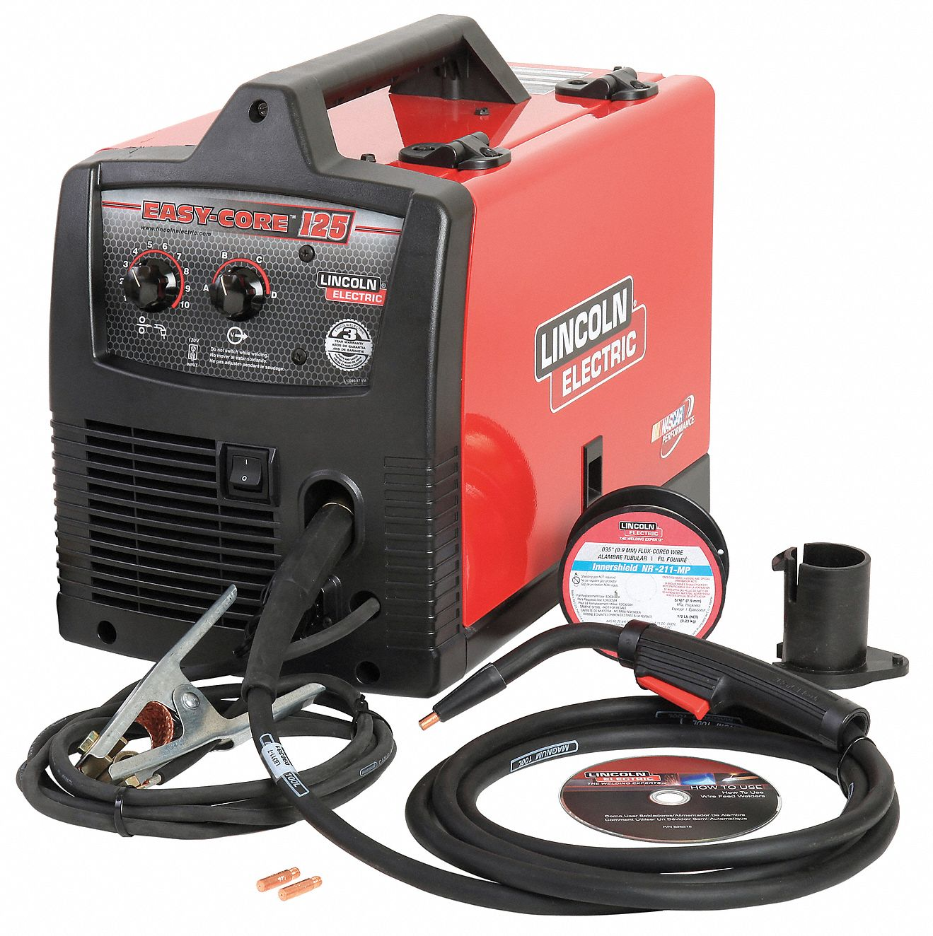 Lincoln electric flux core welder easy core 125 series for Lincoln electric motors catalog