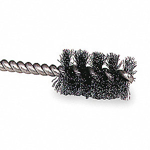 "1/4"" Stainless Steel Single Spiral Tube Brush, Wire Dia. 0.004"", Shank Size 1/8"", PK 10"
