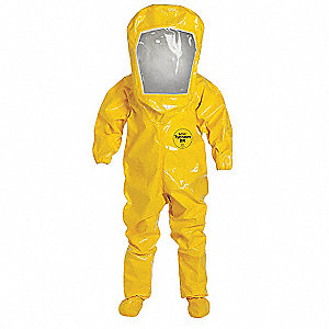 Encapsulated Suit,XL,Tychem BR,Yellow