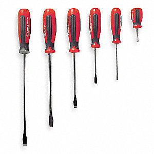 Assorted Combination Screwdriver Set, Multicomponent, Number of Pieces: 8