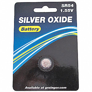 Silver Oxide Button Cell Battery, Voltage 1.5, Battery Size 389/390, 1 EA