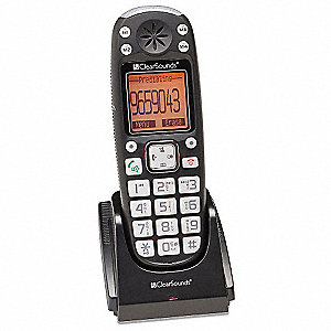 Telephone,Expansion Cordless Handset,Blk