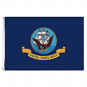 Armed Forces Flag, US Navy, 5 ft. Height, 8 ft. Width