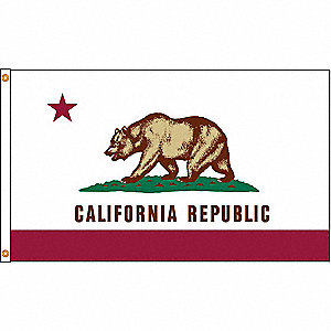 California State Flag, 4 ft. Height, 6 ft. Width