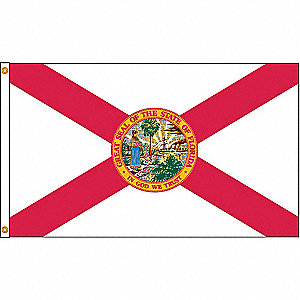 Florida State Flag, 5 ft. Height, 8 ft. Width