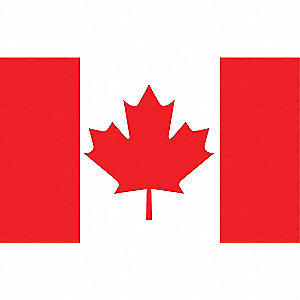 Nylglo canada country flag 5 ft h x 8 ft w indoor outdoor 5jfv3 191343 grainger - Canada flag image ...