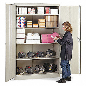 Lyon commercial storage cabinet gray 78 h x 48 w x 24 d unassembled 5jn46 dd1031 grainger - Cabinet recrutement lyon commercial ...