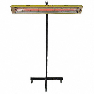 Electric Infrared Panel Heater, Indoor, Stand, Voltage 120, Watts 1500