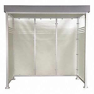 Smokers Shelter,H 103 In,W 105 In,D50 In