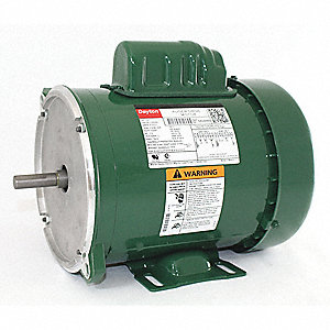 1/2 HP Auger Drive Motor,Capacitor-Start,1725 Nameplate RPM,115/230 Voltage,Frame 56YZ