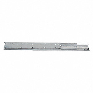 Side Drawer Slide, Non Disconnect, Conventional, Extension Type: Full, 1 PR
