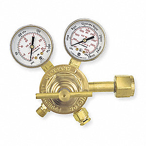 "Professional SR260A-510 Series Gas Regulator, 2 to 15 psi, 2.500"", Acetylene"