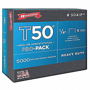 Staples,T50,3/8x1/4 In L,PK5000