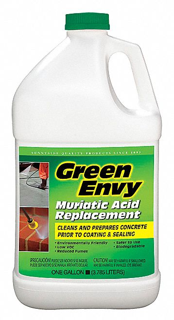 Green envy masonry cleaner 1 gal 5kpy1 610g1 grainger for Organic concrete cleaner