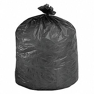 35 gal. Black Trash Bags, Super Heavy Strength Rating, Flat Pack, 80 PK