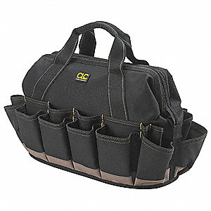 Polyester Tool Bag, General Purpose, Number of Pockets: 39, Black
