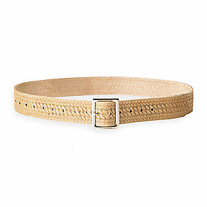 "Tan Work Belt, Top Grain Saddle Leather, 29 to 46"" Waist Size"