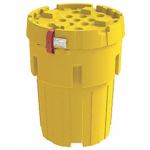 Salvage Drum,Screw Lid,95 gal.,Yellow