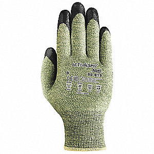 Cut Resistant Gloves,Green/Black,XL,PR