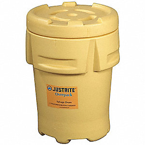 Salvage Drum,Open Head,95 gal.,Yellow