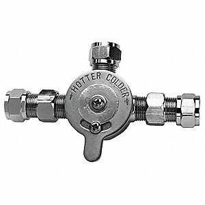 Mixing Check Valve,3/8In,125 PSI,2.5 GPM