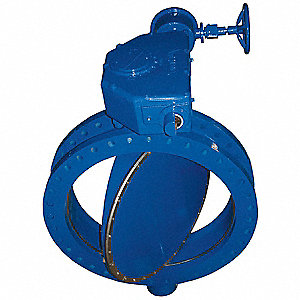 Butterfly Valve,Flanged,6 In,Actuated,CI