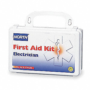 First Aid Kit,Unitized,White,50Pcs,5 Ppl