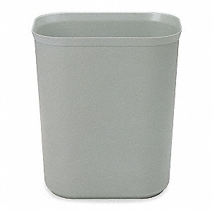 3.5 gal. Rectangular Gray Open-Top Trash Can