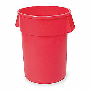 BRUTE 32 gal. Red, LLDPE Utility Container