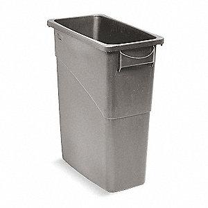 rubbermaid slim jim 16 gal rectangular open top utility trash can 24 7 8 h gray 5m808. Black Bedroom Furniture Sets. Home Design Ideas