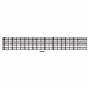 Strip Chart,Fanfold,Range 0 to 10,53 Ft