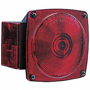 Combination Tail Lamp,Square,Red,PK2